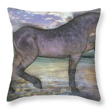 The Sunrise Horse Throw Pillow