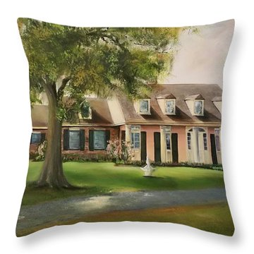 The Sunrise House Throw Pillow