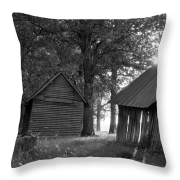 Throw Pillow featuring the photograph The Sunrise In Black And White by Amber Kresge