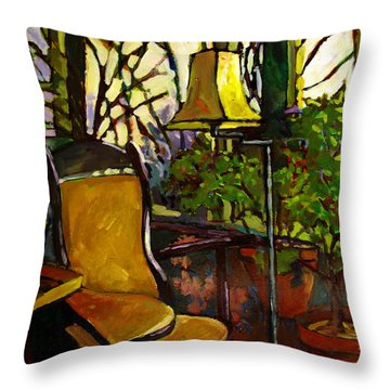 The Sunroom Throw Pillow by Charlie Spear