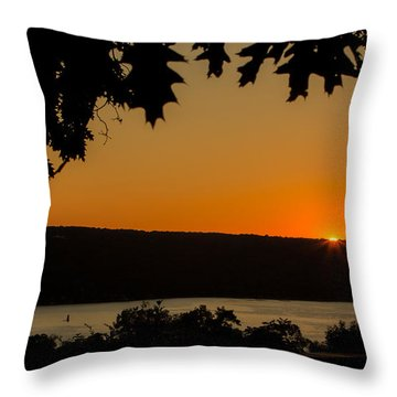 The Sun's Last Wink Throw Pillow