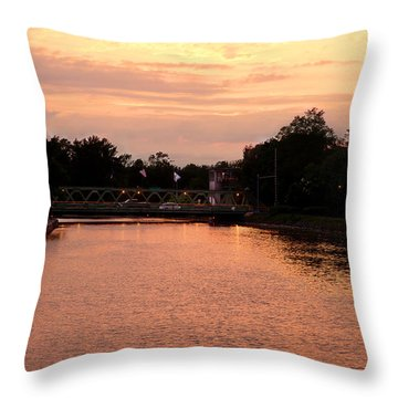 Throw Pillow featuring the photograph The Sunset by Courtney Webster