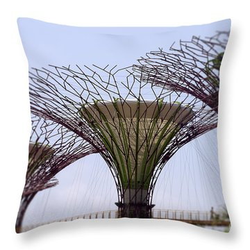 The Supertrees Throw Pillow