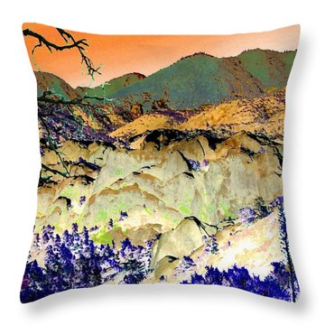 The Surreal Desert Throw Pillow by Glenn McCarthy Art and Photography