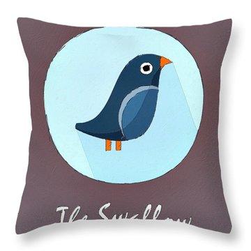 The Swallow Cute Portrait Throw Pillow by Florian Rodarte
