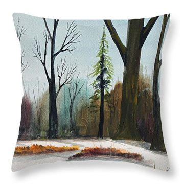 Throw Pillow featuring the painting The Swamps Edge by Jack G  Brauer