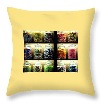 The Sweets Throw Pillow by Angela Davies