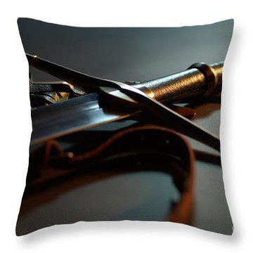 The Sword Of Aragorn 1 Throw Pillow by Micah May