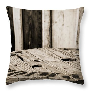 Throw Pillow featuring the photograph The Table by Amber Kresge