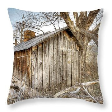 The Tack Shed Throw Pillow