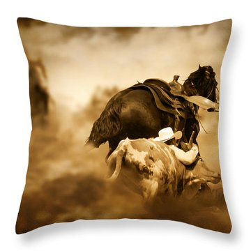 The Takedown Throw Pillow by Davandra Cribbie