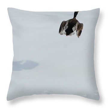 Throw Pillow featuring the photograph The Takeoff by Mim White