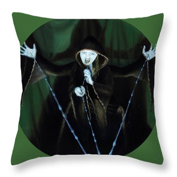 The Taker Throw Pillow by Shelley Irish