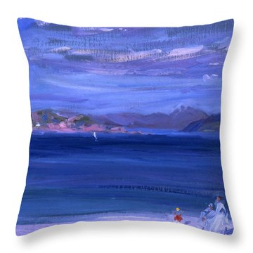 The Tale Of Mull From Iona Throw Pillow by Francis Campbell Boileau Cadell