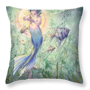 Angelfish Throw Pillows