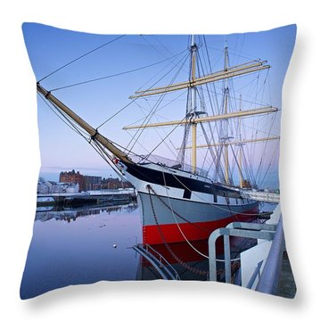 The Tall Ship Glasgow Throw Pillow