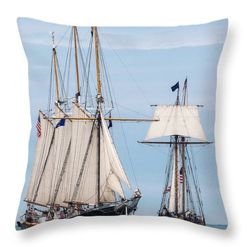 The Tall Ships Throw Pillow by Dale Kincaid