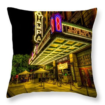 The Tampa Theater Throw Pillow by Marvin Spates