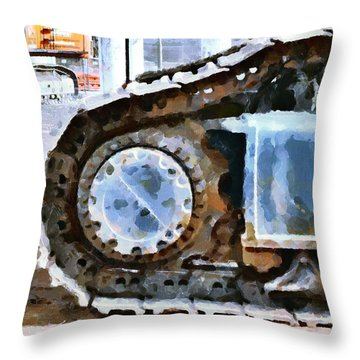 The Tears Of My Tracks Throw Pillow by Steve Taylor