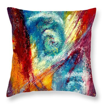 Throw Pillow featuring the painting The Tempest by Jim Whalen