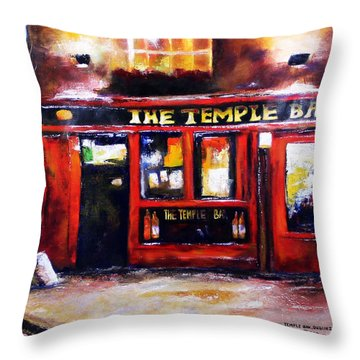 The Temple Bar Throw Pillow