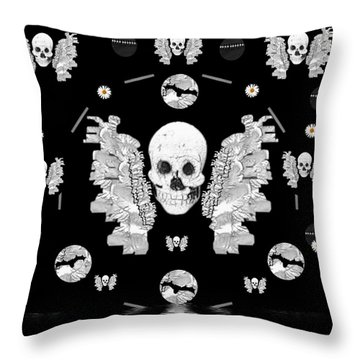 The Temple Of Skulls Throw Pillow by Pepita Selles
