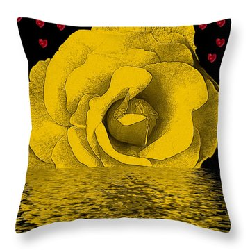 The Temple Of The Hearts Throw Pillow by Pepita Selles