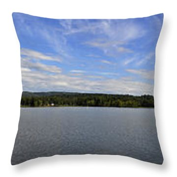 The Tennessee River In Alabama Throw Pillow