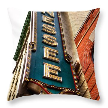 The Tennessee Theatre - Knoxville Tennessee Throw Pillow