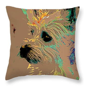 The Terrier Throw Pillow by Lynn Sprowl