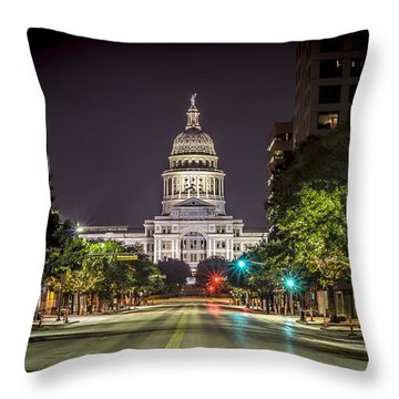 The Texas Capitol Building Throw Pillow