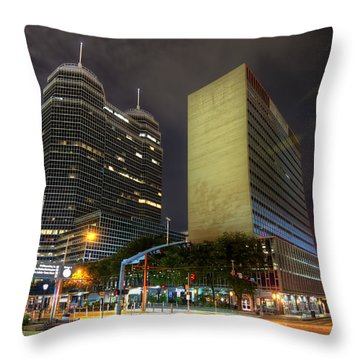 The Texas Medical Center At Night Throw Pillow