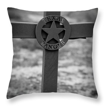 Throw Pillow featuring the photograph The Texas Ranger by Amber Kresge