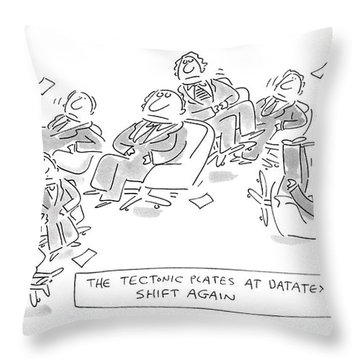 The Textonic Plates At Datatex Throw Pillow