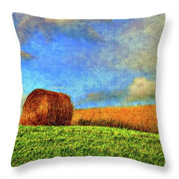 The Textures Of Autumn Throw Pillow by Steve Harrington