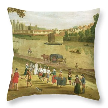The Thames At Richmond, With The Old Throw Pillow