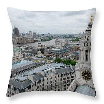 The Thames From St Paul's Throw Pillow