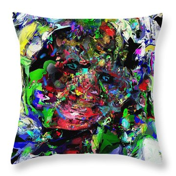 Throw Pillow featuring the digital art The Thinker by David Lane