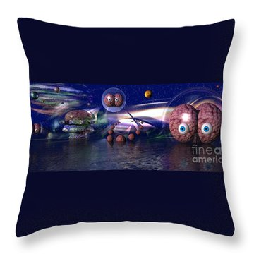 The Thinker Throw Pillow by Jacqueline Lloyd