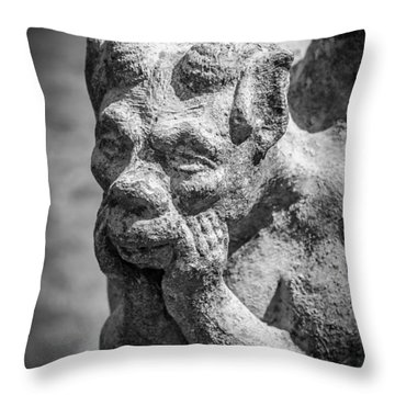 The Thinker Throw Pillow by James Barber