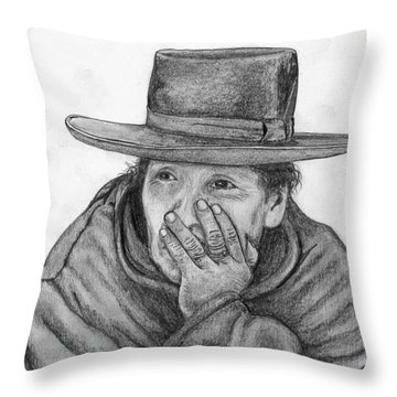 The Thinker Throw Pillow by Lew Davis