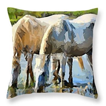 The Thirst Throw Pillow by Dragica  Micki Fortuna