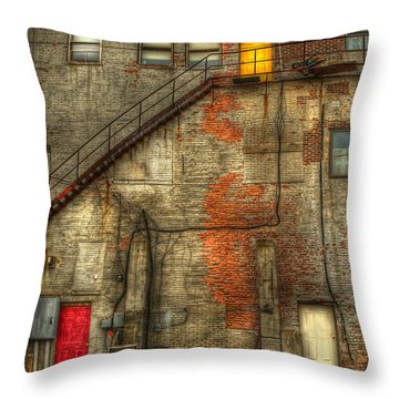 The Three Doors Throw Pillow