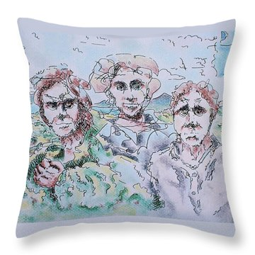 The Three Fonts Throw Pillow
