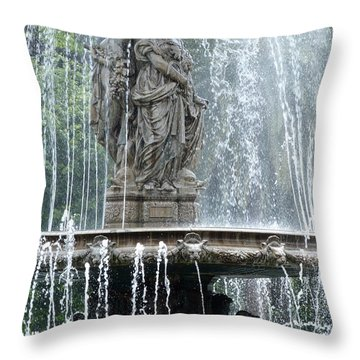 The Three Graces Fountain - Malaga Throw Pillow