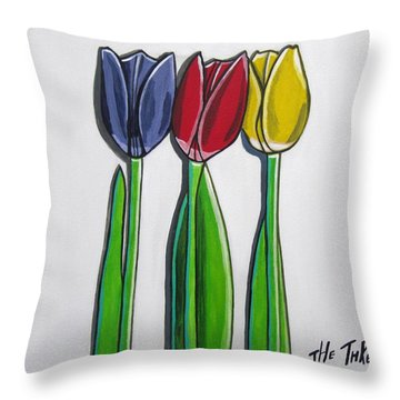 The Three Of Us Throw Pillow by Sandra Marie Adams