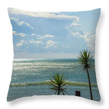 The Three Palms Throw Pillow