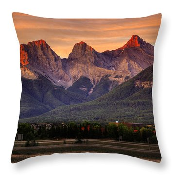 The Three Sisters Canmore Throw Pillow