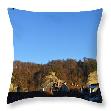 Throw Pillow featuring the photograph The Three Stones From Burgdorf by Felicia Tica