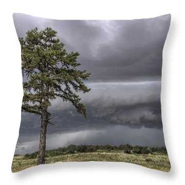 The Thunder Rolls - Storm - Pine Tree Throw Pillow